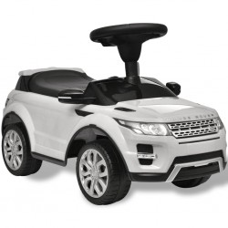Land Rover 348 Samochód dla dzieci z muzyką, kolor biały