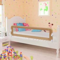 stradeXL Barierka do łóżeczka dziecięcego, taupe, 150x42 cm, poliester
