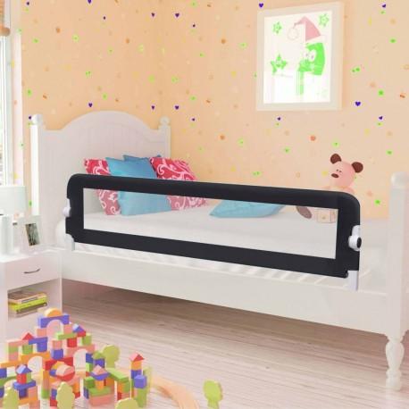 stradeXL Barierka do łóżeczka dziecięcego, szara, 150x42 cm, poliester