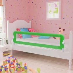 stradeXL Barierka do łóżeczka dziecięcego, zielona, 120x42 cm, poliester