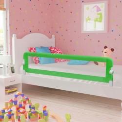 stradeXL Barierka do łóżeczka dziecięcego, zielona, 180x42 cm, poliester