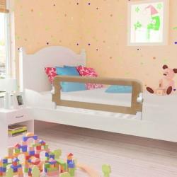 stradeXL Barierka do łóżeczka dziecięcego, taupe, 120x42 cm, poliester