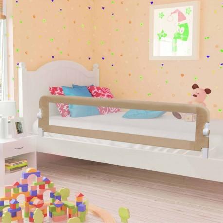 stradeXL Barierka do łóżeczka dziecięcego, taupe, 180x42 cm, poliester