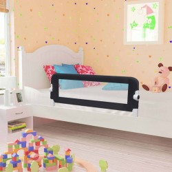 stradeXL Barierka do łóżeczka dziecięcego, szara, 120x42 cm, poliester