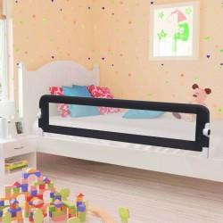 stradeXL Barierka do łóżeczka dziecięcego, szara, 180x42 cm, poliester