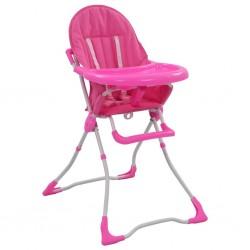 stradeXL Krzesełko do karmienia dzieci, różowo-białe