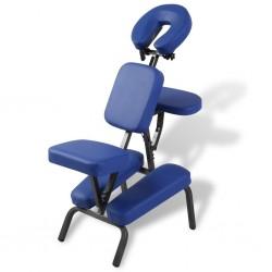stradeXL Składany, przenośny fotel do masażu, niebieski