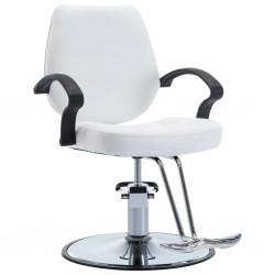 stradeXL Fotel barberski ze sztucznej skóry, biały