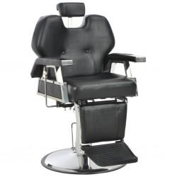 stradeXL Fotel barberski, czarny, 72x68x98 cm, sztuczna skóra