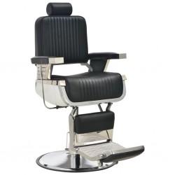 stradeXL Fotel barberski, czarny, 68x69x116 cm, sztuczna skóra