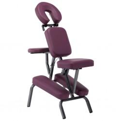 stradeXL Fotel do masażu, sztuczna skóra, burgundowy, 122x81x48 cm