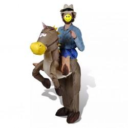 Kostium kowboj i koń, dmuchany