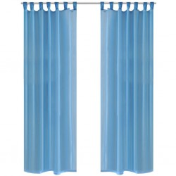 Turquoise Sheer Curtain 140 x 225 cm 2 pcs