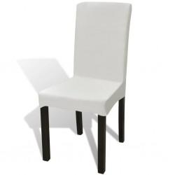 stradeXL Elastyczne pokrowce na krzesła, 6 szt., kremowe