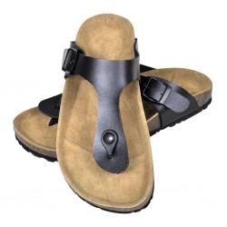 stradeXL Women's Bio Cork Sandal with Flip Flop Design Black Size 41