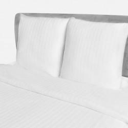 stradeXL Cotton Satin Striped Duvet Cover & 2 Pillowcases 200x200/80x80cm