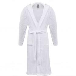 500 g/m² Szlafrok unisex bawełna 100% kolor Biały rozmiar L