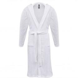 500 g/m² Szlafrok unisex bawełna 100% kolor Biały rozmiar XL