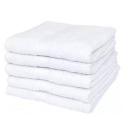 stradeXL Ręczniki kąpielowe, 25 szt, bawełna 400 g/m², 100x150 cm, białe
