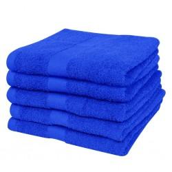 stradeXL Ręczniki, 5 szt., bawełna, 500 g/m², 100x150 cm, szafirowe