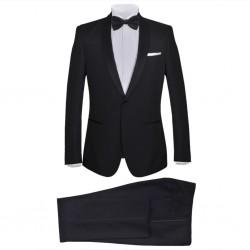 stradeXL 2-częściowy męski garnitur/smoking, rozmiar 46, czarny