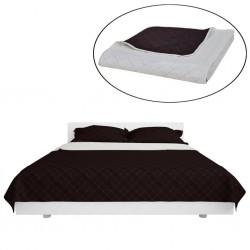 Dwustronna pikowana narzuta na łóżko Beż/Brąz 220 x 240 cm