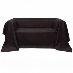 Pokrowiec/Narzuta na kanapę micro zamsz brąz 140 x 210 cm