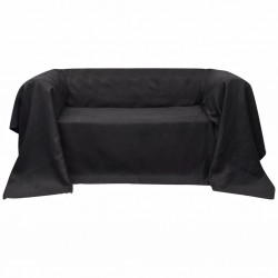 Micro-suede Couch Slipcover Anthracite 210 x 280 cm