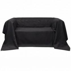 Pokrowiec/Narzuta na kanapę micro zamsz antracyt 210 x 280 cm