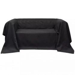Pokrowiec/Narzuta na kanapę micro zamsz Antracyt 270 x 350 cm