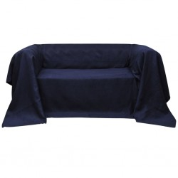 Micro-suede Couch Slipcover Navy Blue 210 x 280 cm