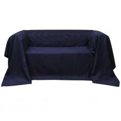 Pokrowiec/Narzuta na kanapę micro zamsz granat 210 x 280 cm