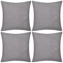 4 Szare bawełniane poszewki na poduszki 80 x 80 cm