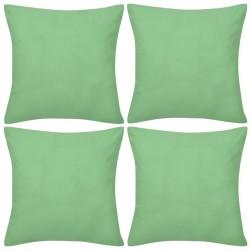 4 Apple Green Cushion Covers Cotton 50 x 50 cm