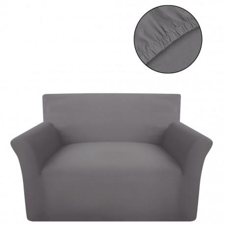 stradeXL Elastyczny pokrowiec na sofę, bawełniany, szary