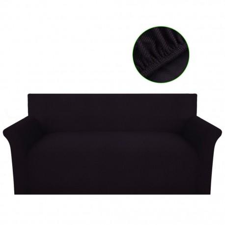 stradeXL Elastyczny pokrowiec na sofę z poliestru, brązowy