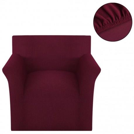 stradeXL Elastyczny pokrowiec na sofę z poliestru, burgundowy