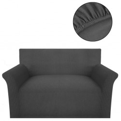 stradeXL Elastyczny pokrowiec na sofę z poliestru, szary