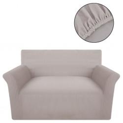 stradeXL Elastyczny pokrowiec na sofę z poliestru, beżowy