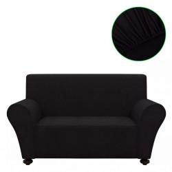 stradeXL Elastyczny pokrowiec na sofę, z dżerseju, czarny