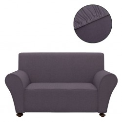 stradeXL Stretch Couch Slipcover Anthracite Polyester Jersey