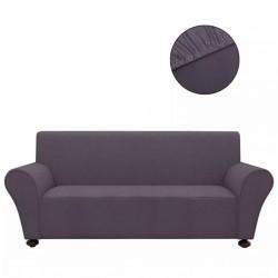 stradeXL Elastyczny pokrowiec na sofę, z dżerseju, antracytowy