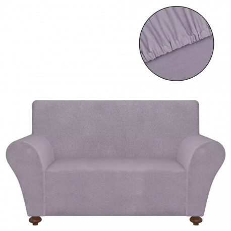 stradeXL Stretch Couch Slipcover Grey Polyester Jersey