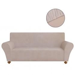 stradeXL Elastyczny pokrowiec na sofę, z dżerseju, beżowy