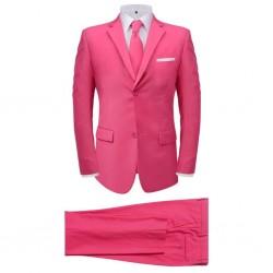 stradeXL 2-częściowy garnitur męski z krawatem różowy rozmiar 48