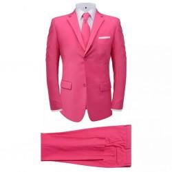 stradeXL 2-częściowy garnitur męski z krawatem różowy rozmiar 56