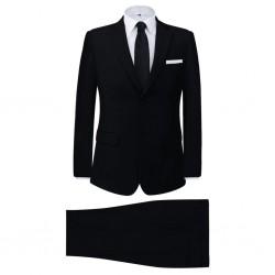 stradeXL Men's Two Piece Business Suit Black Size 46