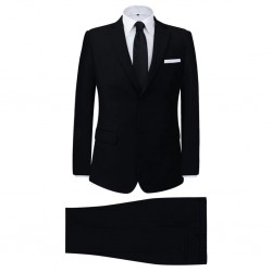 stradeXL 2-częściowy garnitur biznesowy męski czarny rozmiar 48