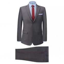stradeXL 2-częściowy garnitur biznesowy męski szary rozmiar 46