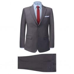 stradeXL 2-częściowy garnitur biznesowy męski szary rozmiar 48